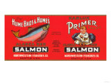 Primer Brand Salmon Label - Seattle, WA Posters