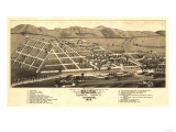 Colorado - Panoramic Map of Salida Posters