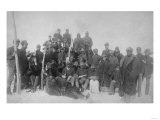 "Black ""Buffalo Soldiers"" of the 25th Infantry Photograph - Fort Keogh, MT Posters"