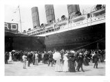 Closeup of Lusitania at the Dock NYC Photo - New York, NY Poster by  Lantern Press