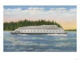 Seattle, WA - View of Kalakala Ferry on Puget Sound Posters by  Lantern Press