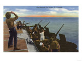 US Navy View - Anti-Aircraft Fire from U.S. Carrier Posters by  Lantern Press