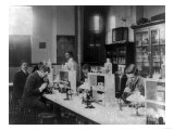 Bacteriology Laboratory at Howard University Photograph - Washington, DC Posters by  Lantern Press
