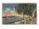 St. Petersburg, FL - View of Coffee Pot Bayou & Isle Poster by  Lantern Press
