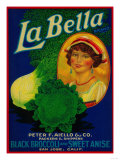 San Jose, California - La Bella Vegetable Label Posters by  Lantern Press