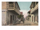 St. Augustine, Florida - View of Charlotte St. Posters by  Lantern Press