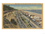 Santa Monica, CA - Beach Scene Along Palisades Posters by  Lantern Press