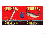 Tenakee Brand Salmon Label - Seattle, WA Posters