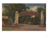 St. Augustine, FL - Fountain of Youth Entrance View Posters