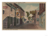 St. Augustine, Florida - View of St. George St. No.2 Poster by  Lantern Press
