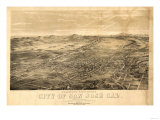 San Jose, California - Panoramic Map No. 1 Print by  Lantern Press