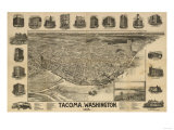 Washington - Panoramic Map of Tacoma Posters