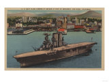 San Diego, CA - View U.S. Navy Aircraft Carrier Posters