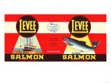 Levee Brand Salmon Label - Seattle, WA Posters