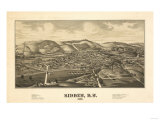Sidney, New York - Panoramic Map Posters by  Lantern Press