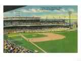 First Base Bleachers View of Crosley Field - Cincinnati, OH Prints by  Lantern Press