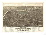 Youngstown, Ohio - Panoramic Map Poster