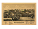 Wolfeboro, New Hampshire - Panoramic Map Poster by  Lantern Press