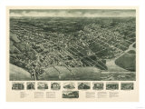 Somers Point, New Jersey - Panoramic Map Poster by  Lantern Press