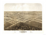 Warrensburg, Missouri - Panoramic Map Poster by  Lantern Press