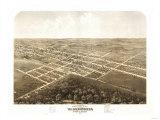 Warrensburg, Missouri - Panoramic Map Poster