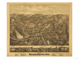 Stafford Springs, Connecticut - Panoramic Map Poster