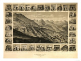 Virginia City, Nevada - Panoramic Map Posters