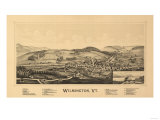 Wilmington, Vermont - Panoramic Map Posters by  Lantern Press