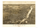 Troy, New York - Panoramic Map Posters by  Lantern Press