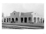 Exterior View of Southern Pacific Depot - Tulare, CA Art by  Lantern Press