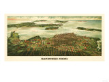Sandusky, Ohio - Panoramic Map Print by  Lantern Press