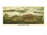 Sandusky, Ohio - Panoramic Map Print