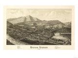 Windsor, Vermont - Panoramic Map Print
