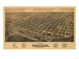 Texarkana, Texas - Panoramic Map Print by  Lantern Press