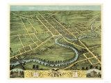 Warren, Ohio - Panoramic Map Print