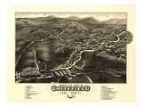 Whitefield, New Hampshire - Panoramic Map Print