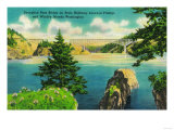 Deception Pass Bridge, Fidalgo and Whidby Islands - Deception Pass, WA Art by  Lantern Press