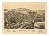 Ticonderoga, New York - Panoramic Map Print by  Lantern Press