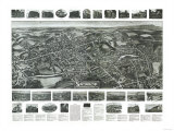 South Manchester, Connecticut - Panoramic Map Print
