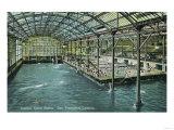 Interior View of the Indoor Sutro Baths - San Francisco, CA Prints by  Lantern Press