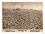 Salt Lake City, Utah - Panoramic Map Posters