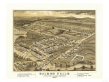 Rollinsford, New Hampshire - Panoramic Map Posters