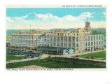 Exterior View of Sun-Maid Raisin Plant - Fresno, CA Prints