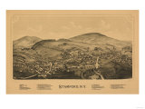 Stamford, New York - Panoramic Map Posters by  Lantern Press