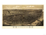 Saint Louis, Missouri - Panoramic Map Posters