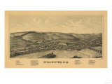 Stillwater, New York - Panoramic Map Poster by  Lantern Press
