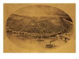 Saint Louis, Missouri - Panoramic Map Posters by  Lantern Press