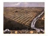 Topeka, Kansas - Panoramic Map Print by  Lantern Press