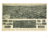 Valley Stream, New York - Panoramic Map Print