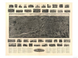 Torrington, Connecticut - Panoramic Map Print